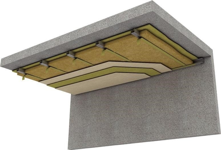 Система шумоизоляции потолка